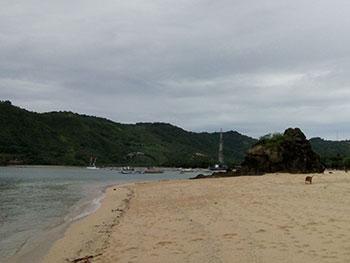 Salah satu sudut Pantai Kuta Lombok