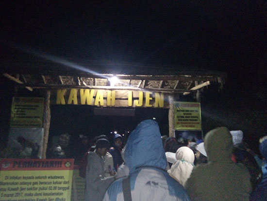 The gate to entering the Ijen Crater